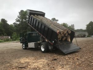 Log Truck Delivery Raleigh Wake Forest NC