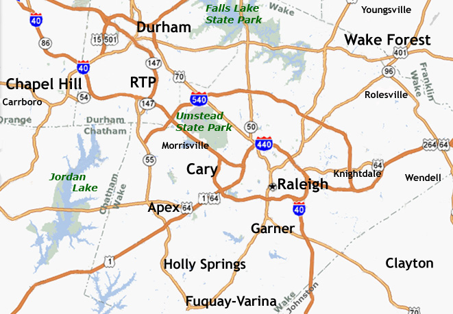 Tree Removal Service Area- Raleigh Durham NC